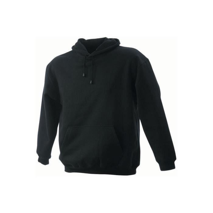 sweat shirt uni capuche homme noir noir achat vente. Black Bedroom Furniture Sets. Home Design Ideas