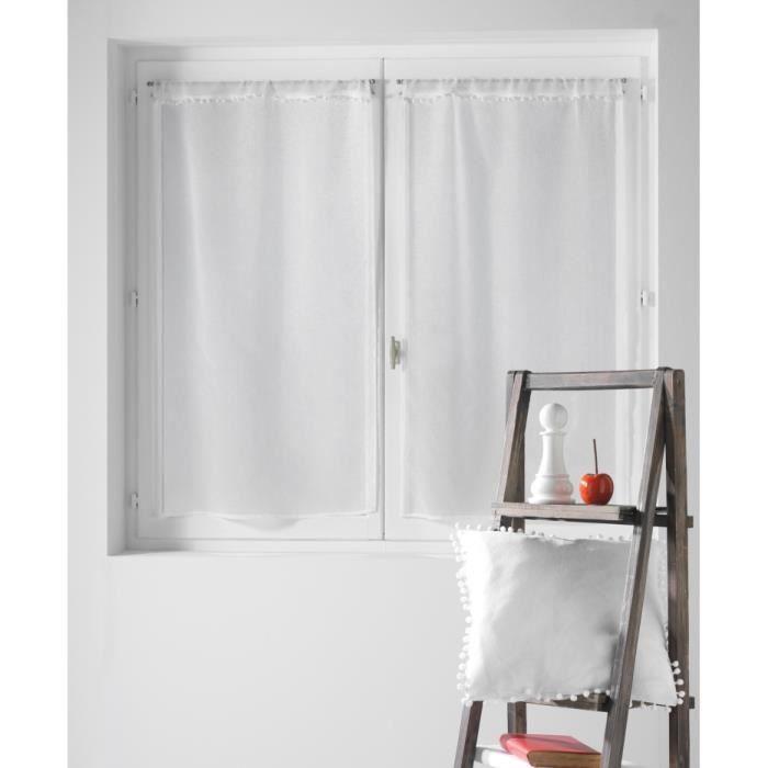 rideau 70x160 achat vente rideau 70x160 pas cher les soldes sur cdiscount cdiscount. Black Bedroom Furniture Sets. Home Design Ideas