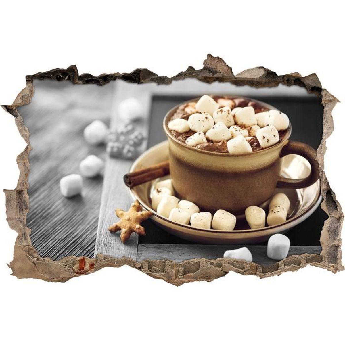 Boisson de cacao avec guimauves b w d tails perc e for Apparence decoration