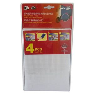 Kit de Réparation PVC 4 Pi?ces pour Bâche de Camion ou Remorque