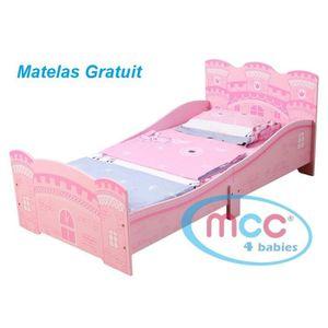 LIT COMPLET Lit de Princesse/Château de Princesse pour jeunes