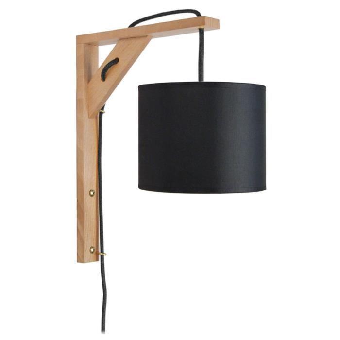 querre applique bois rectangulaire 30 cm cordon avec. Black Bedroom Furniture Sets. Home Design Ideas