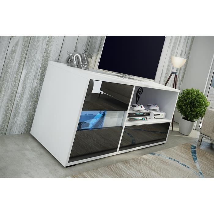 meuble rtv vogue blanc mat noir brillant achat vente meuble tv meuble rtv vogue blanc mat. Black Bedroom Furniture Sets. Home Design Ideas