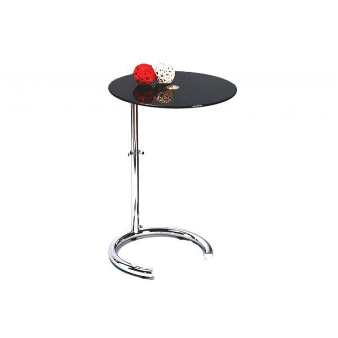 Petite table r glable noire aphrodite achat vente - Petite table basse noire ...