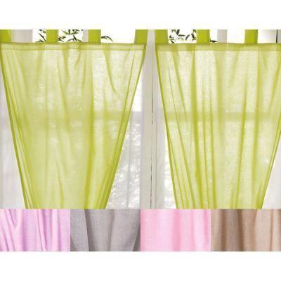 double voilage en coton 140x250cm achat vente rideau. Black Bedroom Furniture Sets. Home Design Ideas