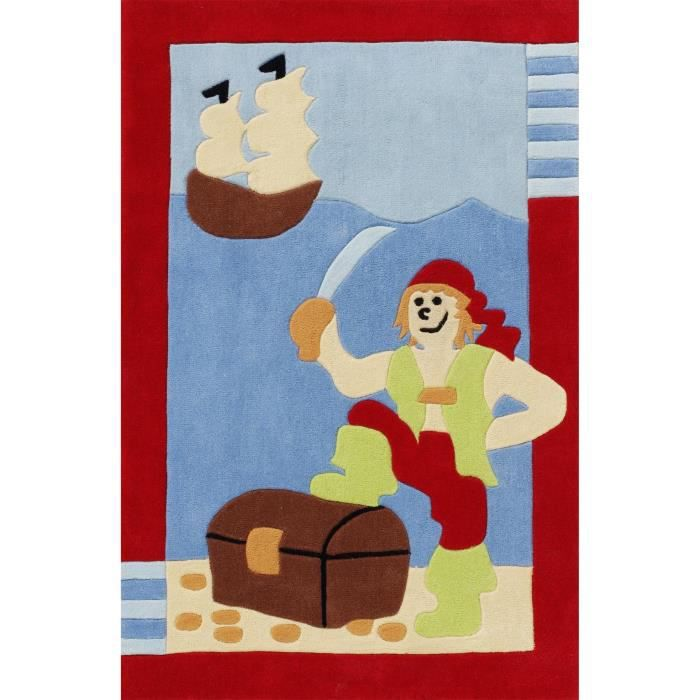 benuta tapis enfants pirate multicouleur 80x150 cm achat vente tapis cdiscount. Black Bedroom Furniture Sets. Home Design Ideas