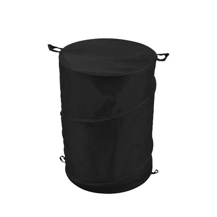 panier linge pliable noir achat vente panier a linge panier linge pliable noir cdiscount. Black Bedroom Furniture Sets. Home Design Ideas