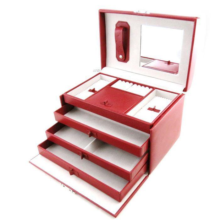 coffret bijoux grain de beaut rouge achat vente boite a bijoux coffret bijoux grain. Black Bedroom Furniture Sets. Home Design Ideas