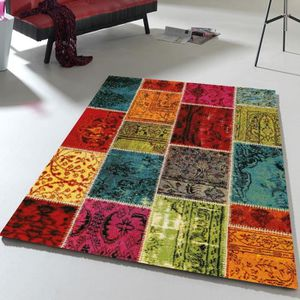 tapis multicolore. Black Bedroom Furniture Sets. Home Design Ideas