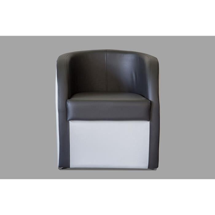 fauteuil cabriolet blanc et noir en pvc avec coffre en. Black Bedroom Furniture Sets. Home Design Ideas