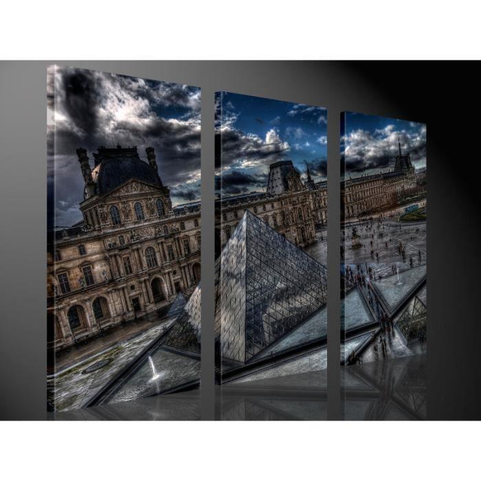 Tableau moderne imprim 130x80 louvre achat vente tableau toile toile - Vente tableau moderne ...
