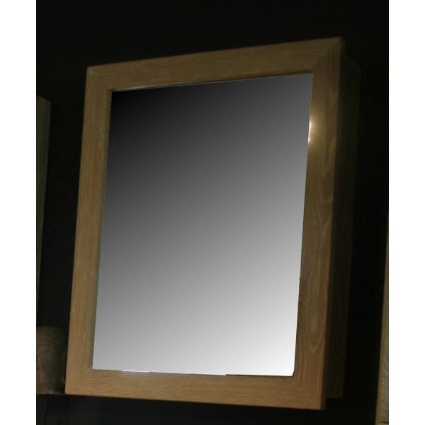 Miroir avec tag re ch ne massif 39 pina 39 achat vente for Miroir o beau miroir