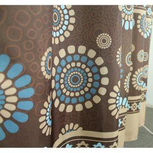 rideau bleu marron. Black Bedroom Furniture Sets. Home Design Ideas