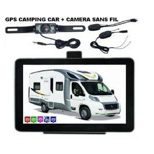 PACK GPS AUTO GPS CAMPING CAR AVEC CAMERA DE RECUL SANS FIL 2016