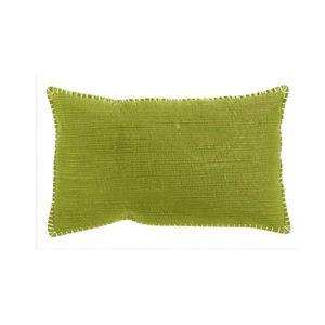 housse de coussin vert anis achat vente housse de coussin vert anis pas cher cdiscount. Black Bedroom Furniture Sets. Home Design Ideas