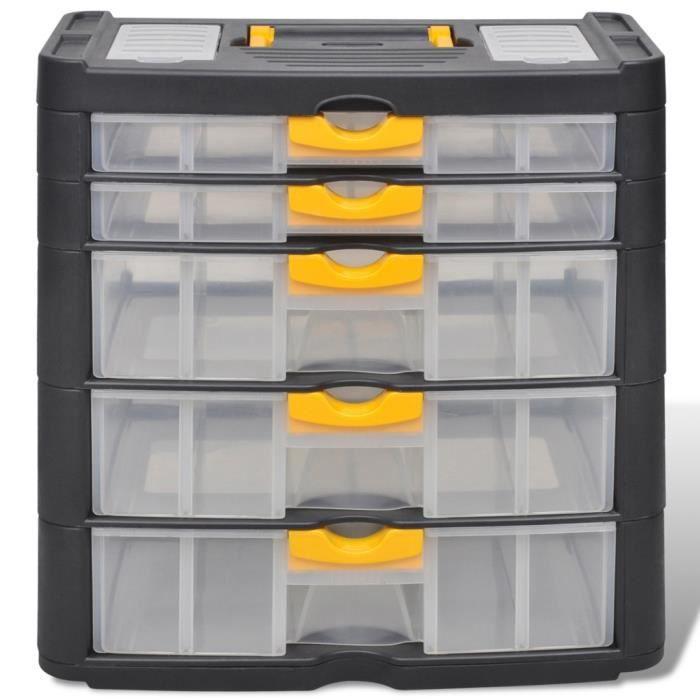 boites a outils boite casier commode de rangement plastique 5 tiroirs achat vente boite a. Black Bedroom Furniture Sets. Home Design Ideas