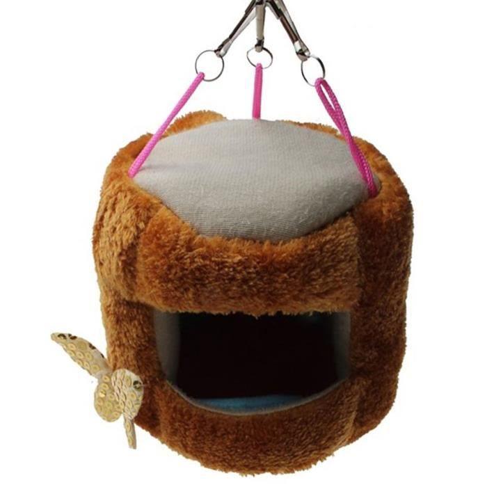 emours en peluche tronc d 39 arbre hamac lit suspendu maison pour rat hamster cureuil sucre. Black Bedroom Furniture Sets. Home Design Ideas