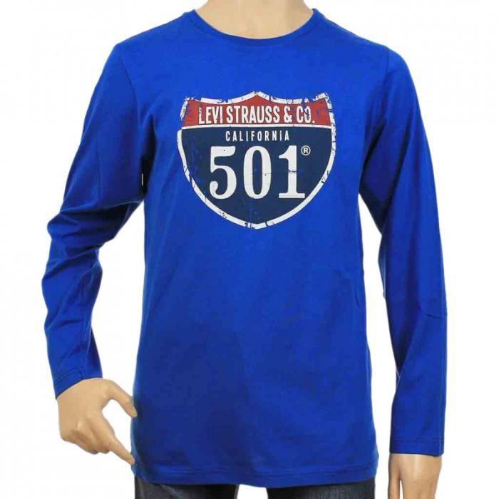 tee shirt levi 39 s enfant bleu achat vente t shirt tee shirt levi 39 s enfant cdiscount. Black Bedroom Furniture Sets. Home Design Ideas