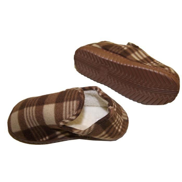 chaussons pantoufles charentaise fourr e homme confortable. Black Bedroom Furniture Sets. Home Design Ideas