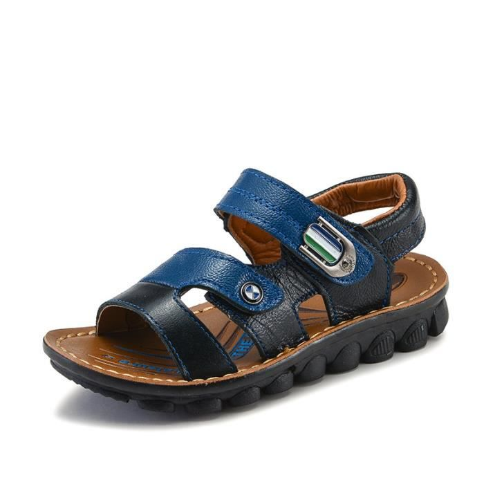 sandales de gar on enfants de chaussures de plage d 39 t noir achat vente sandale nu pieds. Black Bedroom Furniture Sets. Home Design Ideas