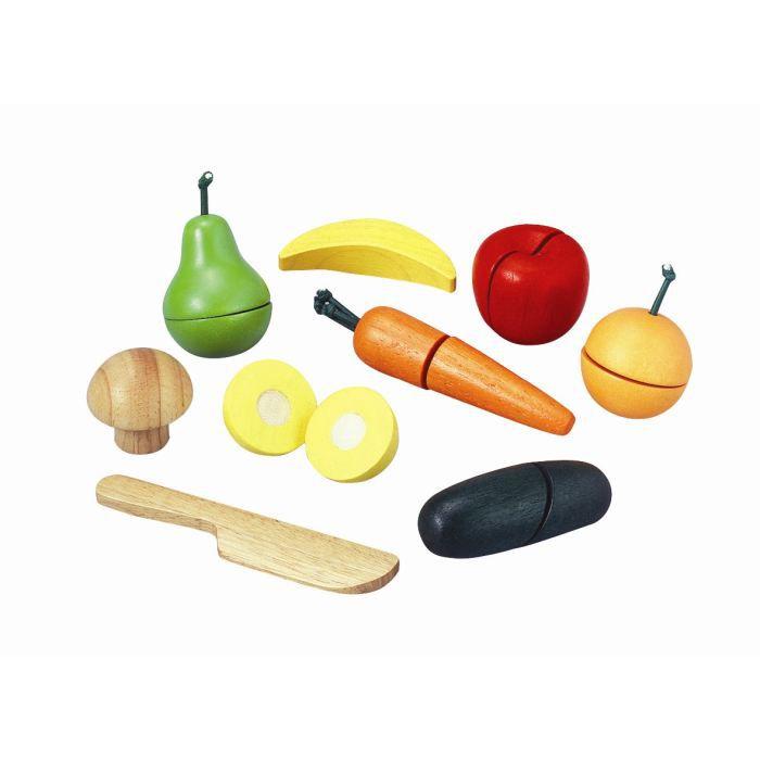 Plateau de fruits en bois for Cuisine en bois janod