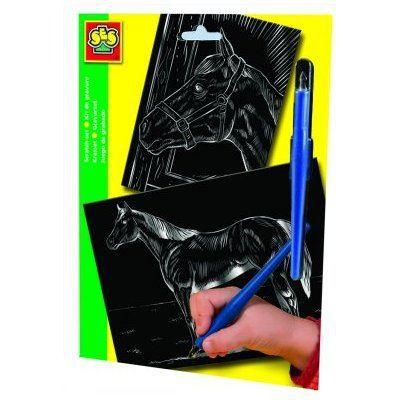 kit de gravure 2 cartes grands mod les cheval achat. Black Bedroom Furniture Sets. Home Design Ideas