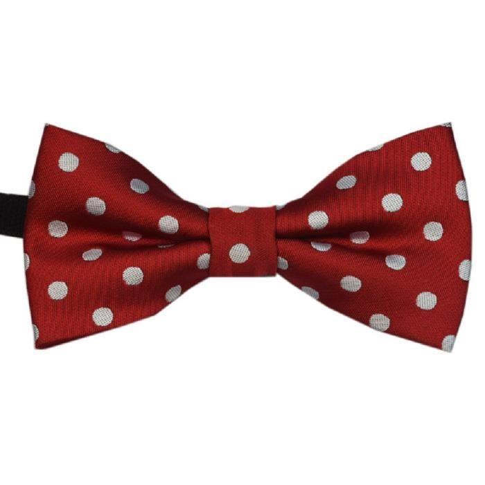 N ud papillon rouge points blancs pour enfant achat - Noeud papillon rouge enfant ...