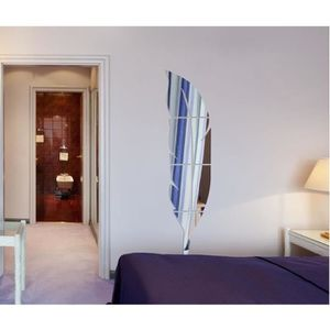 Stickers plume miroir chambre achat vente stickers for Miroir mural chambre