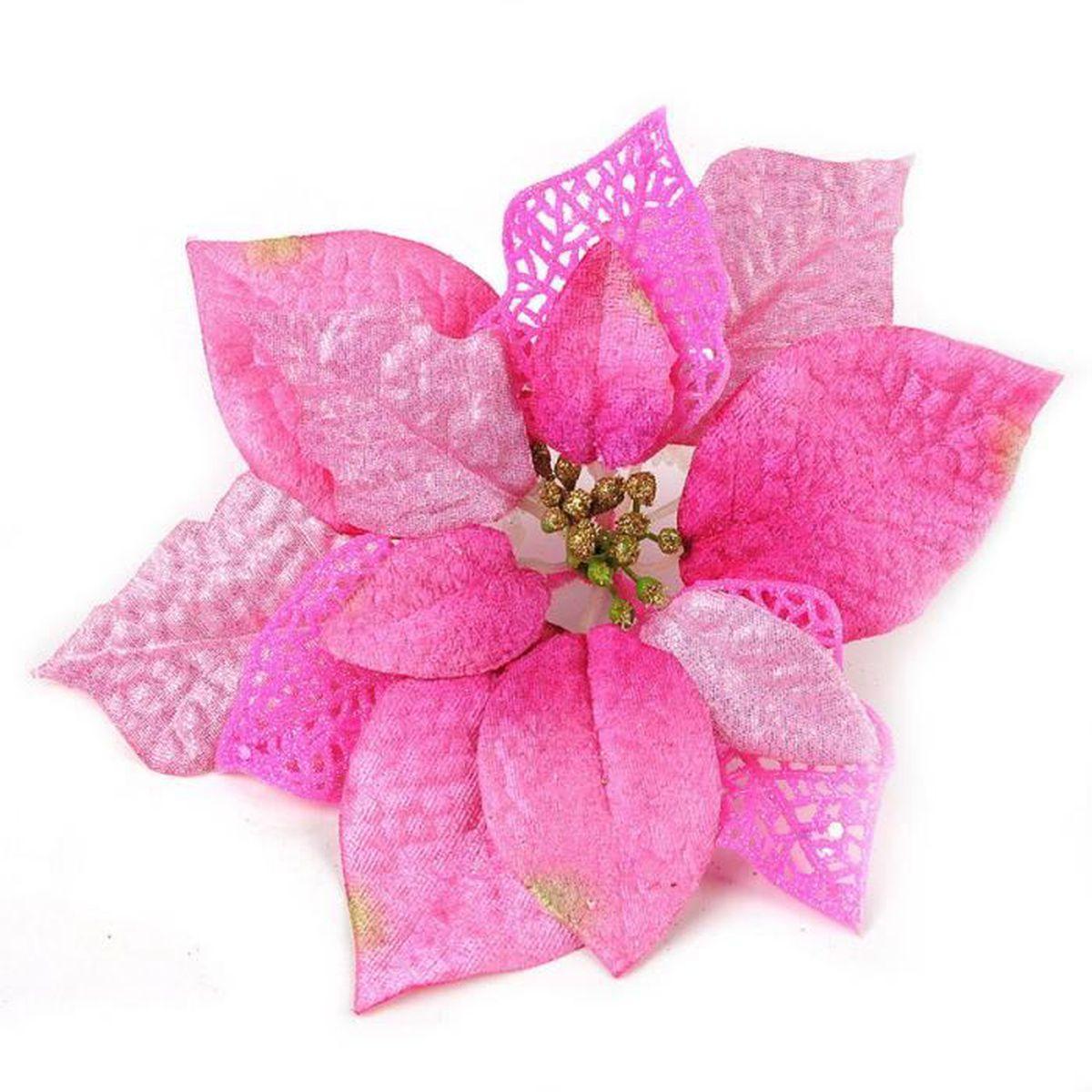 Glitter artificielle mariage fleurs de no l pour decor trois rose non achat - Fleurs artificielles pour mariage ...