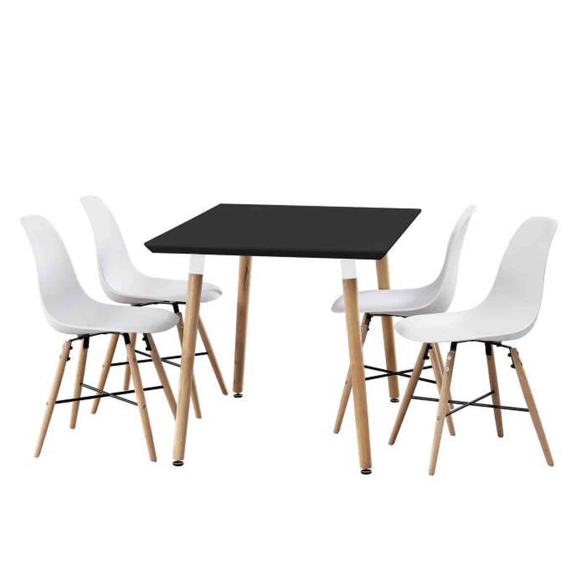 Table de salle manger bambou avec 4 chaises for Salle a manger sims 4