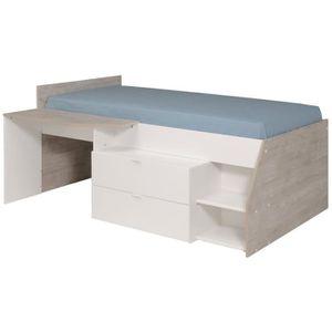 lit combine avec bureau achat vente lit combine avec bureau pas cher soldes cdiscount. Black Bedroom Furniture Sets. Home Design Ideas