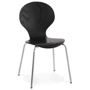 """CHAISE Paris Prix - Chaise Design """"Mania"""" Noir"""