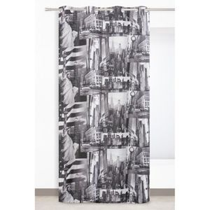 Rideaux new york gris achat vente rideaux new york - Rideau occultant new york ...
