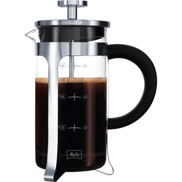 Cafetière à piston 8 tasses - chrome