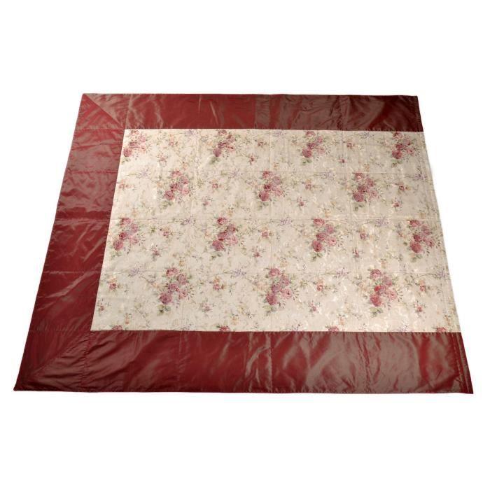 couvre lit artisanal rouge avec fleurs deux places fait main achat vente couverture. Black Bedroom Furniture Sets. Home Design Ideas