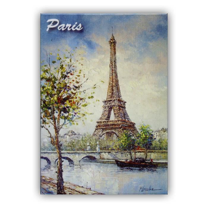 Magnet Paris - Peinture de la Tour Eiffel Portait - Souvenirs de Paris - Achat / Vente aimants ...