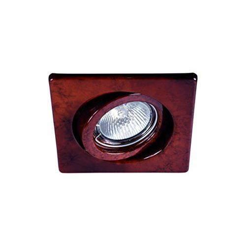 aimur 10129r9r033 spot oscillant carr cuivre antiquegu10 led sharp 5w 3000k achat vente. Black Bedroom Furniture Sets. Home Design Ideas
