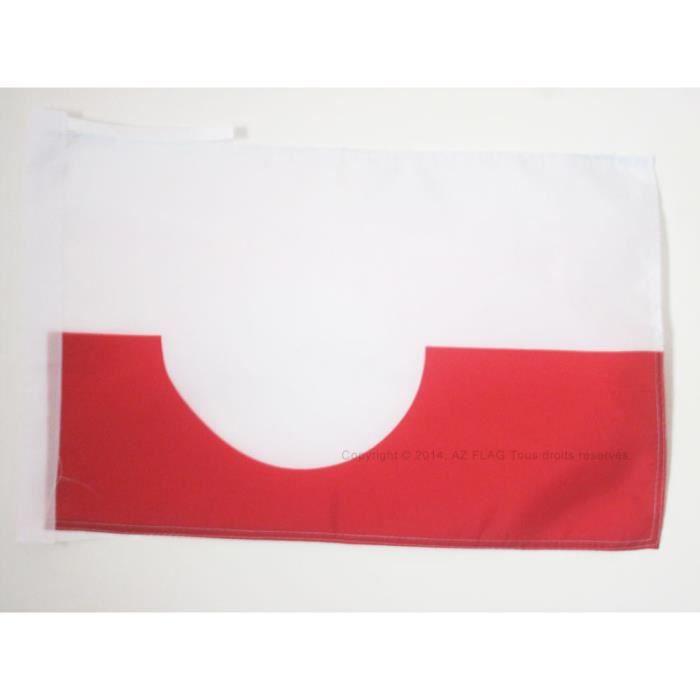 Drapeau groenland 45x30cm groenlandais haute qualit for Linge de maison haute qualite