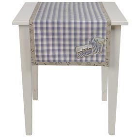 Chemin de table lavande de provence bleu 50x140cm clayre - Chemin de table lavande ...