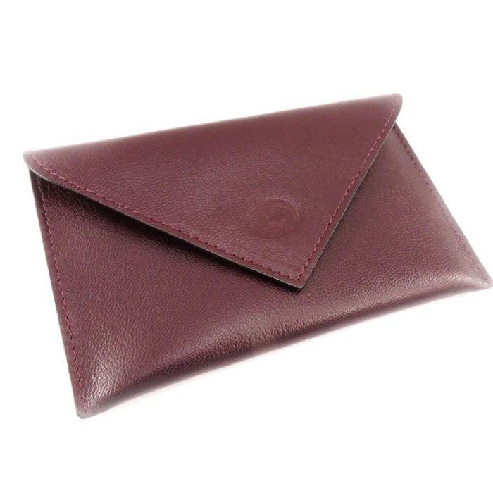Porte papiers de voiture cuir frandi bordeaux achat vente porte papiers porte papiers de for Achat porte interieur bordeaux