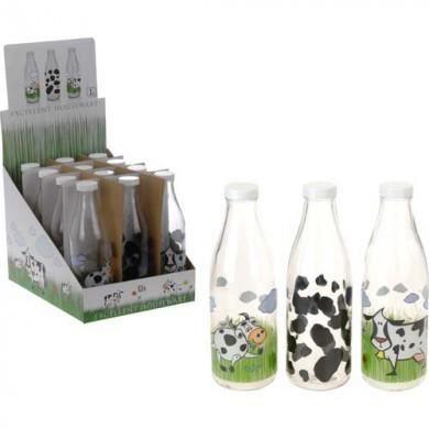 bouteille de lait en verre 1l achat vente pichet carafe cdiscount. Black Bedroom Furniture Sets. Home Design Ideas