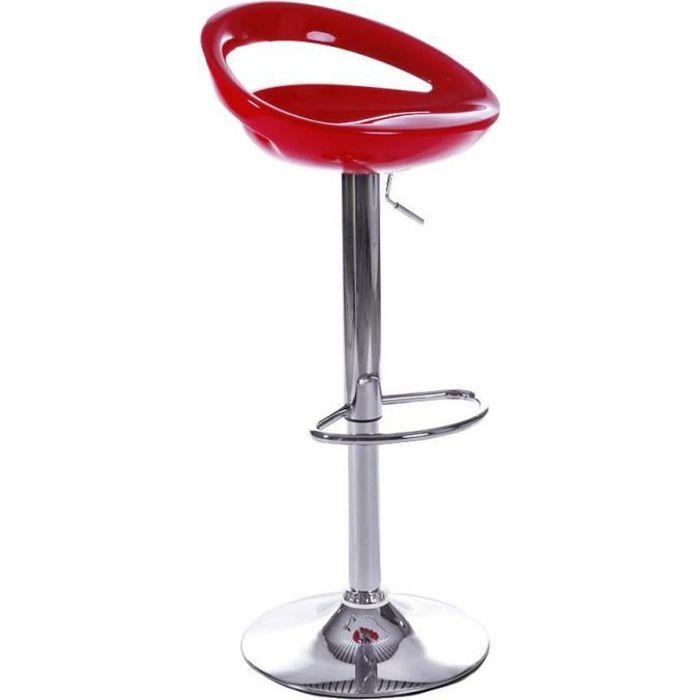 tabouret de bar rouge laura lot de 2 id 39 clik achat vente tabouret de bar cdiscount. Black Bedroom Furniture Sets. Home Design Ideas