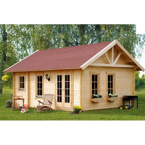 chalet de jardin en bois 420 x 560 cm m avec espace de stockage bern achat vente abri. Black Bedroom Furniture Sets. Home Design Ideas