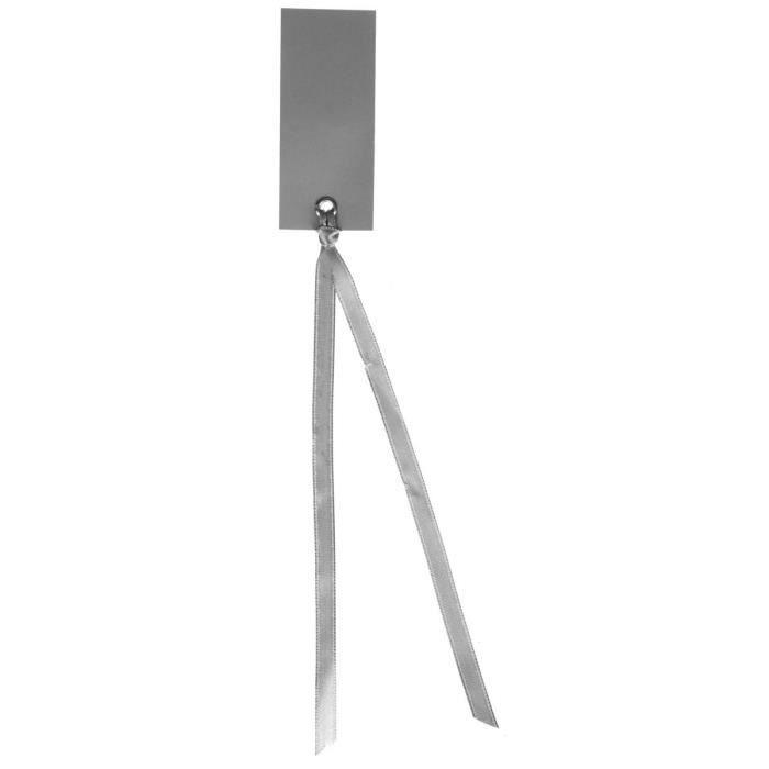 Santex marque place rectangulaire avec ruban gris achat vente d cors de t - Marque place avec photo ...