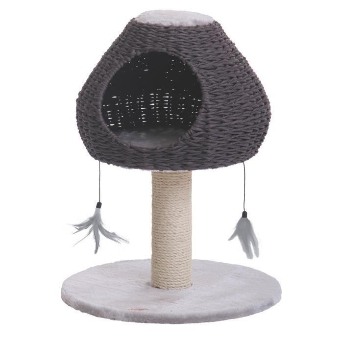nobby arbre chat dina gris clair 48 x 48 x 62cm achat vente arbre chat arbre chat. Black Bedroom Furniture Sets. Home Design Ideas