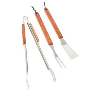 Set 3 accessoires - Inox / Manche bois