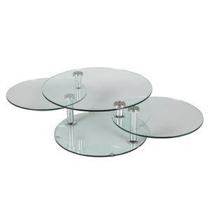 table basse 3 plateaux verre achat vente table basse 3 plateaux verre pas cher les soldes. Black Bedroom Furniture Sets. Home Design Ideas