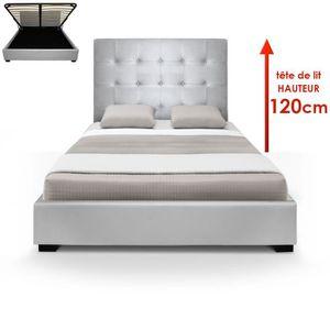 lit coffre 120x190 achat vente lit coffre 120x190 pas. Black Bedroom Furniture Sets. Home Design Ideas