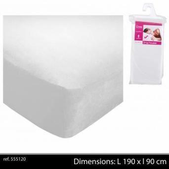 drap housse 90 x 190 cm polyester blanc achat vente drap housse cdiscount. Black Bedroom Furniture Sets. Home Design Ideas