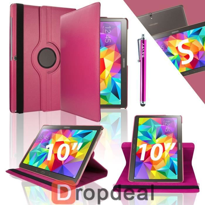 Housse coque luxe 360 galaxy tab s 10 5 fuchsia prix for Housse galaxy tab s